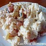 Kalafior  pomidory  szczypiorek  jajko majonezu jogurt naturalny