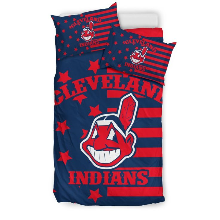 Star Mashup Column Cleveland Indians Bedding Sets – Best Funny Store