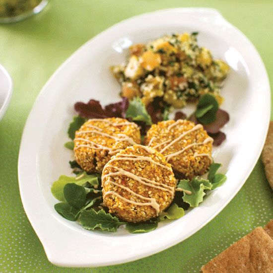 Gluten-Free Carrot Falafel with Tangy Tahini Sauce Recipe - Food and Recipes - Mother Earth Living