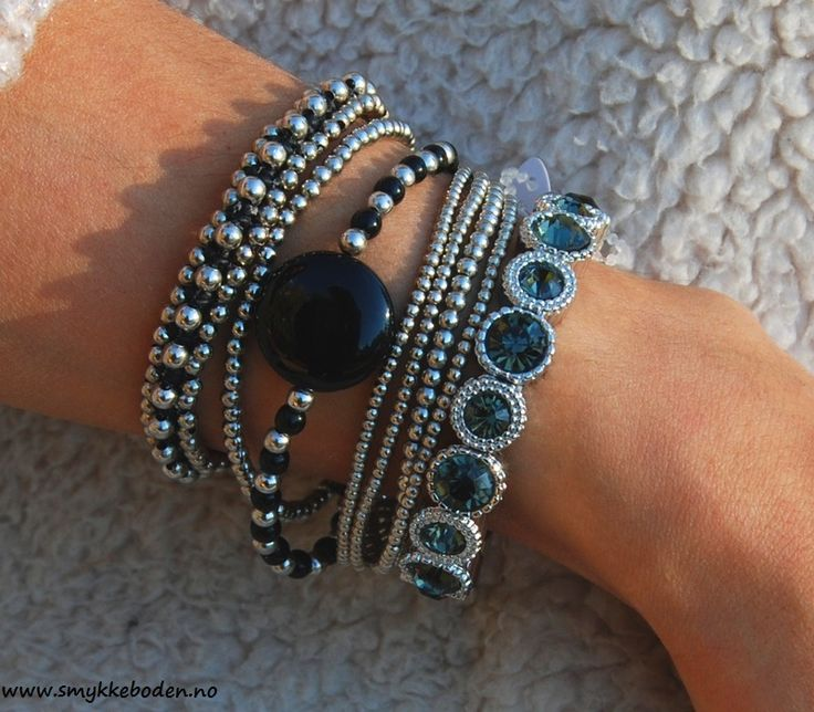 Armcandy Black silver 03 marielle from Loika, NOK 489 www.smykkeboden.no