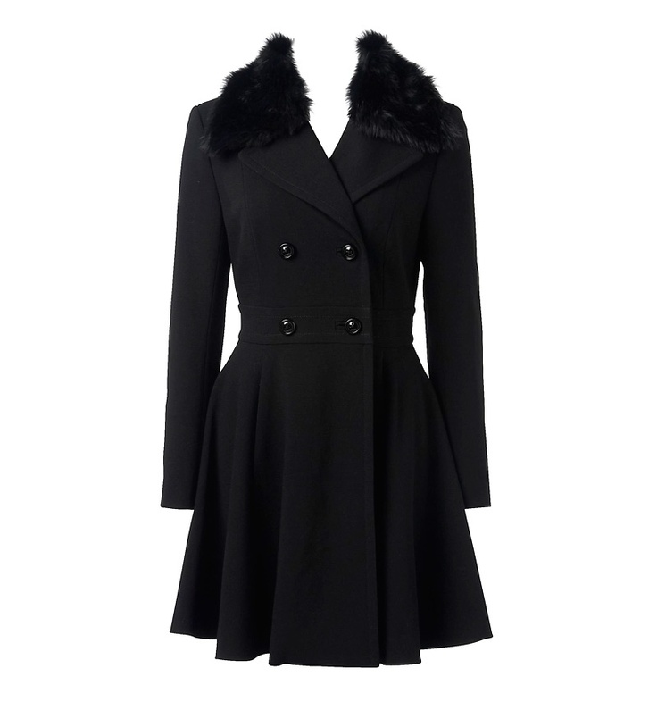 ANNABELLA FIT AND FLARE COAT