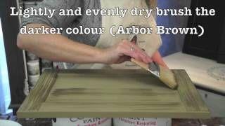 Cottage Paint Drybrushing