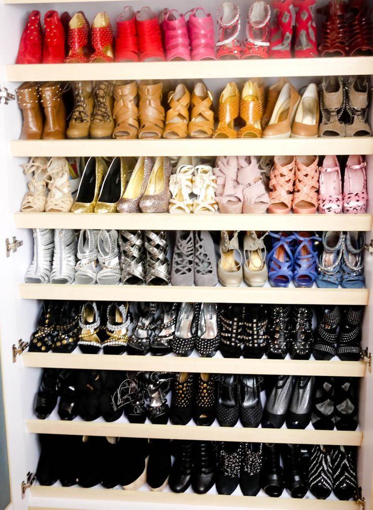 Color Coordinated Shoe Closet!