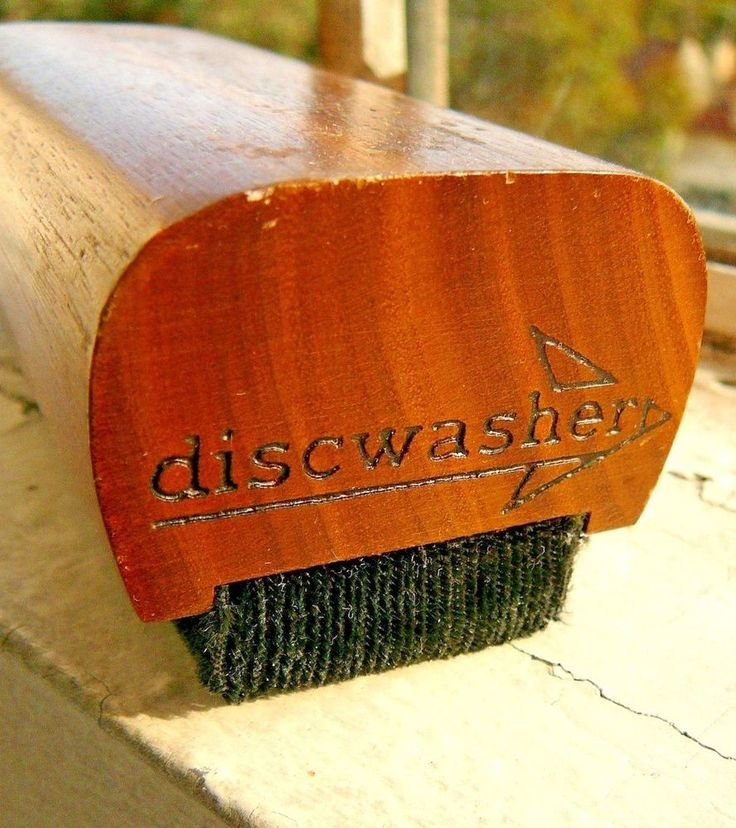 Discwasher Pad Brush Vinyl Record Care Cleaner Duster 1977 & Instruction Booklet #Discwasher