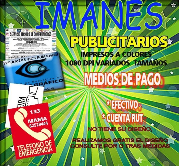 IMANES PUBLICITARIOS MEDIOS DE PAGO