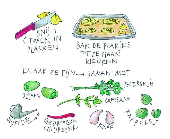 Kookboekenmaker, illustrator en kok Yvette van Boven maakt elke week een gerecht in de oven. Deze week: citroensalsa.