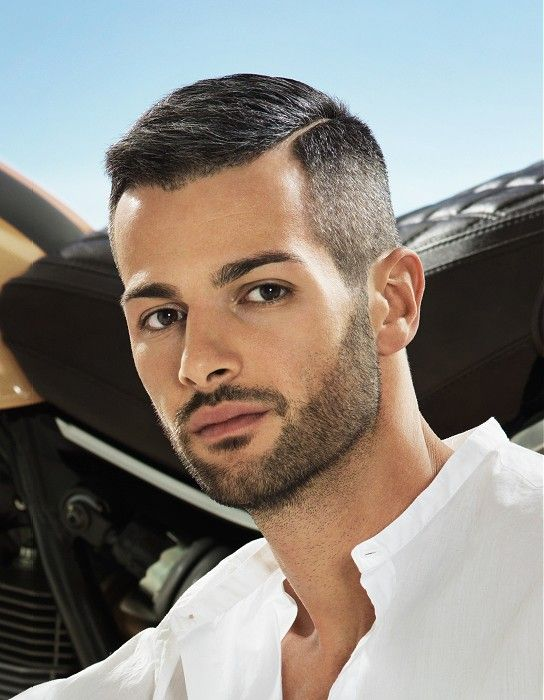 Short Side-Parting Straight Hairstyle Haircut For Men