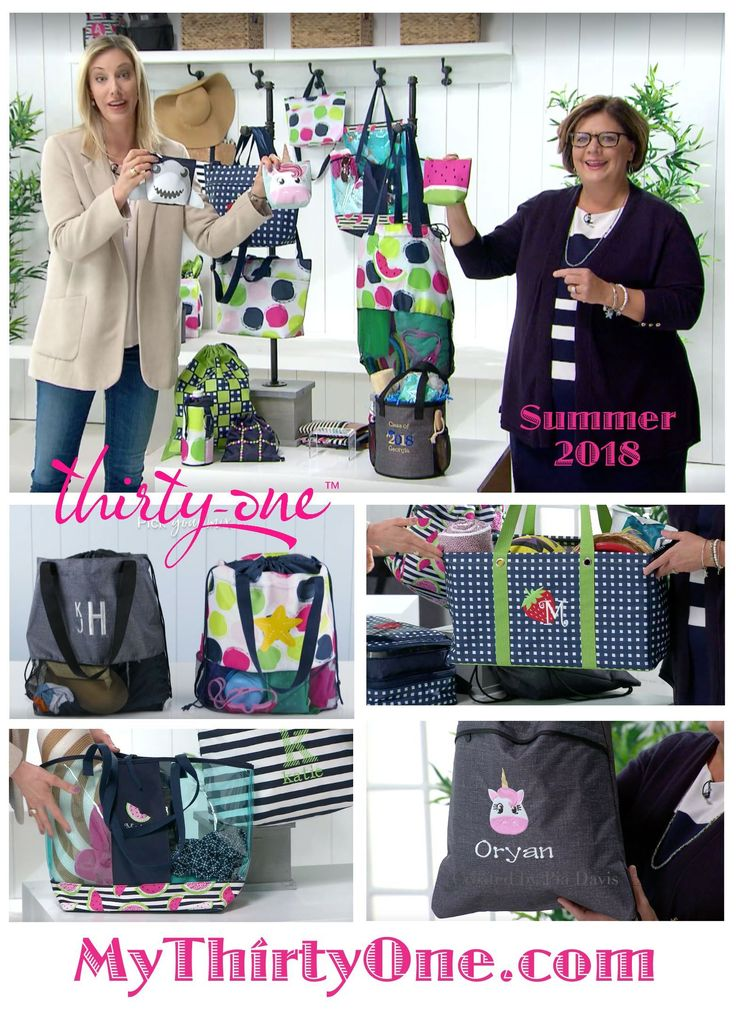 #31 Thirty-One Gifts has something new coming in April 2018. Be on the look out for... Pinch-Top Eye Glass Cases... Crossbody Thermal Totes... Cool Cinch Thermals... Mesh Mix Cinch Bag... In The Clear Tote & Zipper Pouch... Summer Fun Caddy... Bring A Bottle Thermals... Game On Set... Cool Zip Snackers. New prints include Slice of Summer, Going Gingham, On The Spot and more. See everything on MyThrityOne.com/PiaDavis or find your consultant in the upper right corner.