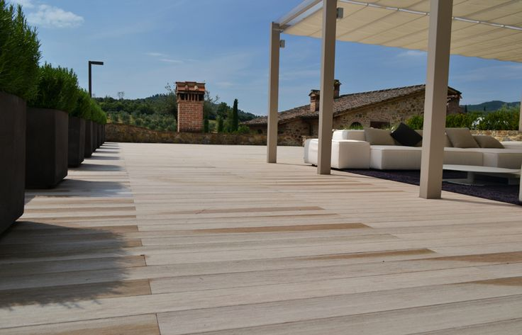 The feeling of natural wood decking under your bare feet is second only to fluffy clouds and spaghetti perhaps. Enjoy a beautiful outdoor wooden decking without the splinters and risk of slipping. Sadly Woodn doesn't include the view.