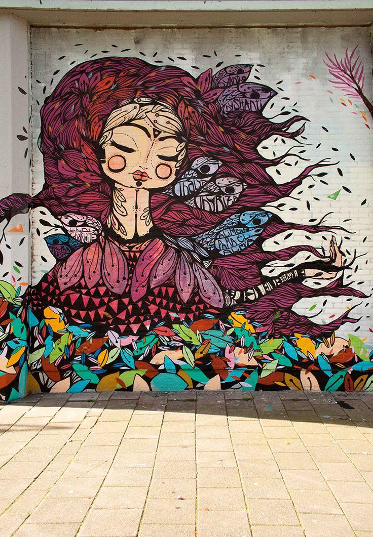 Artist ; Pau Quintanajornet – New Mural in Amsterdam visit dopewriter.com to buy personal graffiti via paypal