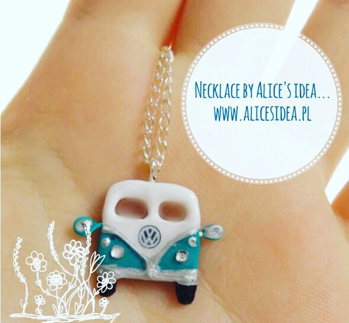 "** I invite you to buy an original necklace,,Vintage car ."". ** Jewelry is painted resistant varnish. www.alicesidea.pl"