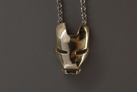Iron man mask  pendant Iron man pendant.Creative by zeroten2012, $15.99----i would wear this all the time