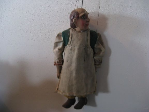 A beautiful authentic antic Czech Marionette..20's, from a Czech puppet Theatre! #CzechMarionette