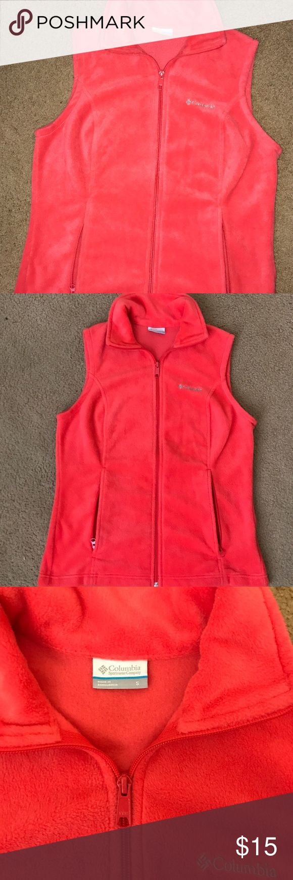 Colombia fleece vest. NWOT Colombia coral fleece vest. NWOT. Perfect condition. Smoke free home Columbia Jackets & Coats Vests