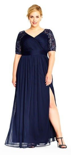 55 Plus Size Wedding Guest Dresses {with Sleeves} - Plus Size Cocktail Dresses - alexawebb.com