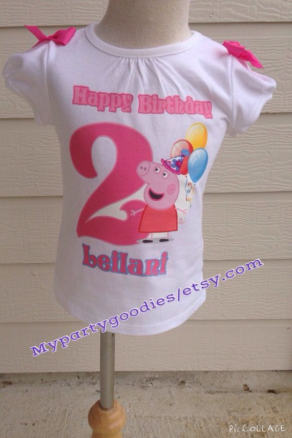 Peppa pig shirt Personalized Peppa pig Tee by Mypartygoodies