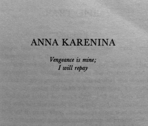 a literary analysis of the vengeance in anna karenina by leo tolstoy Need help with part 1, chapter 1 in leo tolstoy's anna karenina check out our revolutionary side-by-side summary and analysis.