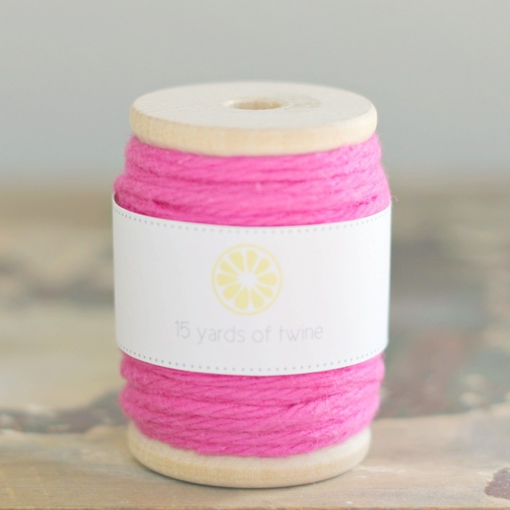 Hot Pink Twine by we love citrus: Accessories Parties, Pink Twine, Crafts Twine, Birthday Parties, Twine Ribbons, Hot Pink, Parties Ideas, Mason Jars, Parties Accessories
