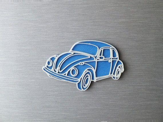3D printed - Retro magnets - VW beetle