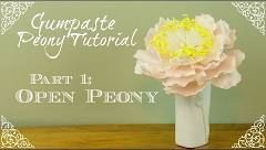 How to Make a Closed Peony Center - YouTube
