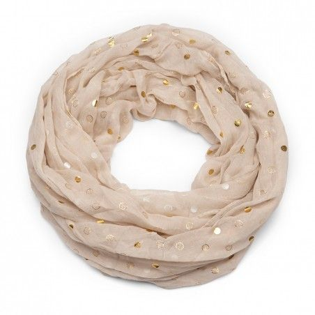 Pretty Sand Polyester Metallic Dot Infinity Scarf by Sole Society