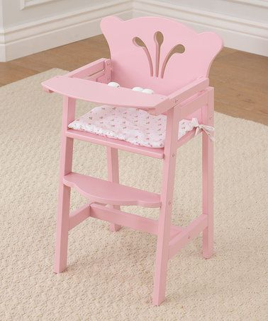 Love this Pretty 'N' Pink High Chair For 18'' Doll on #zulily! #zulilyfinds