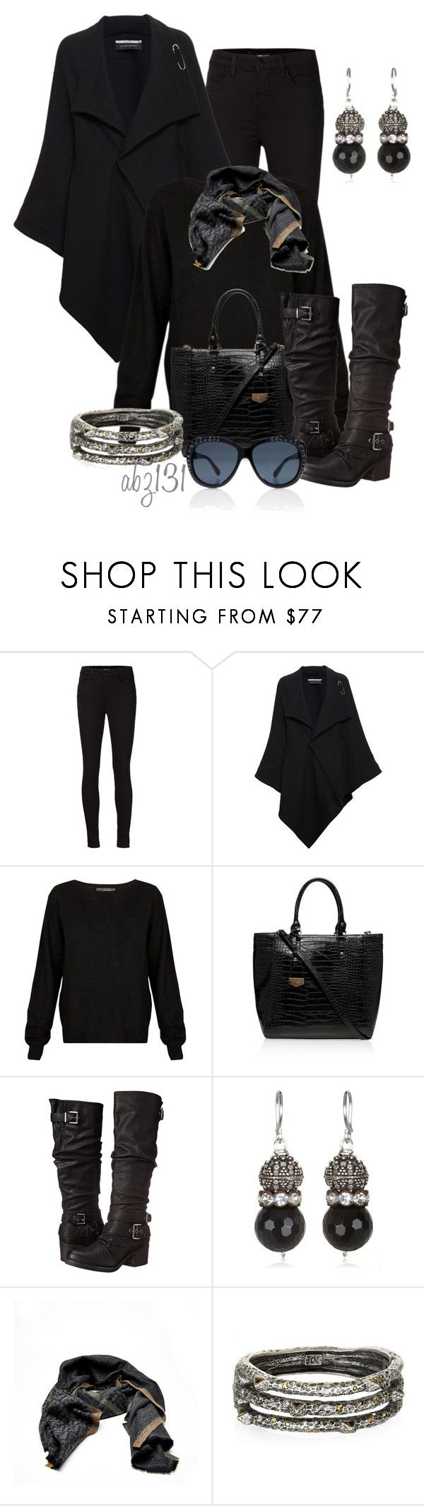 """""""Untitled #1960"""" by anfernee-131 ❤ liked on Polyvore featuring J Brand, Roland Mouret, 360 Sweater, Carvela Kurt Geiger, Carlos by Carlos Santana, Fendi and Tory Burch"""