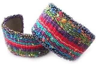 Weaving: Tapestry/Bead Cuff Bracelet