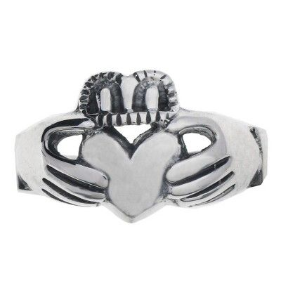 Sterling Silver Claddagh Ring - 12.0, Women's, Variation Parent