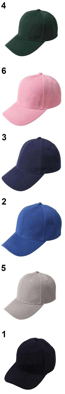 Women Men Casual s Baseball Cap Solid Color Blank Visor Hat Snapback Cap