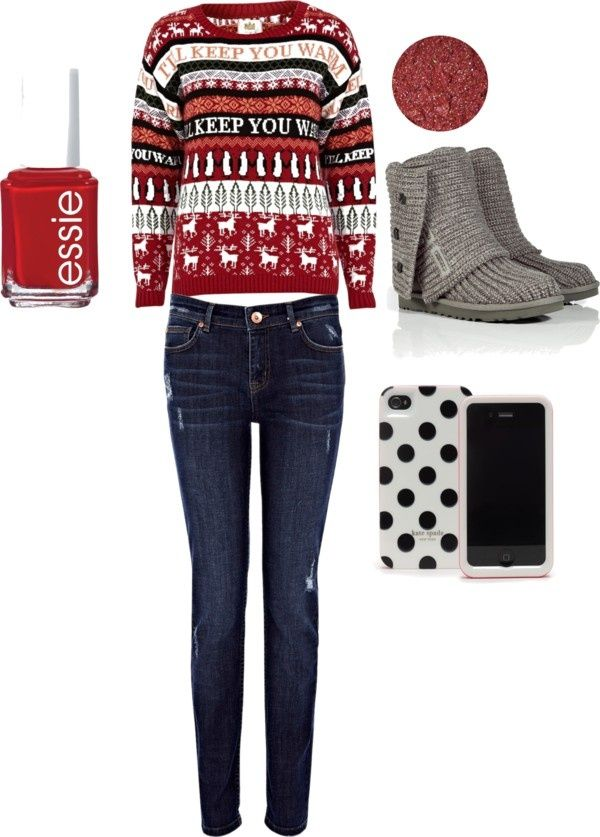 38 cute Christmas outfits for girls - Cute Christmas outfit by macksmom on Polyvore