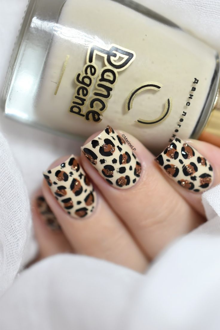 Leopard print nails  | Nail art | Nail art ideas | Nail art designs | Nail art DIY | Easy Nail art