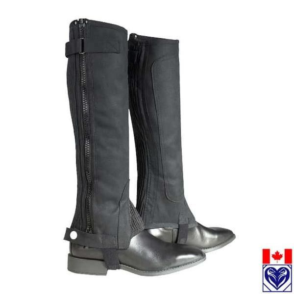 Half Chaps (Synthetic) - Horze Ribbed Amara Half Chaps from Horses are Expensive