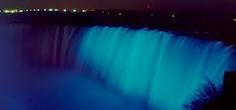 Niagara Falls.. Light it Up Blue
