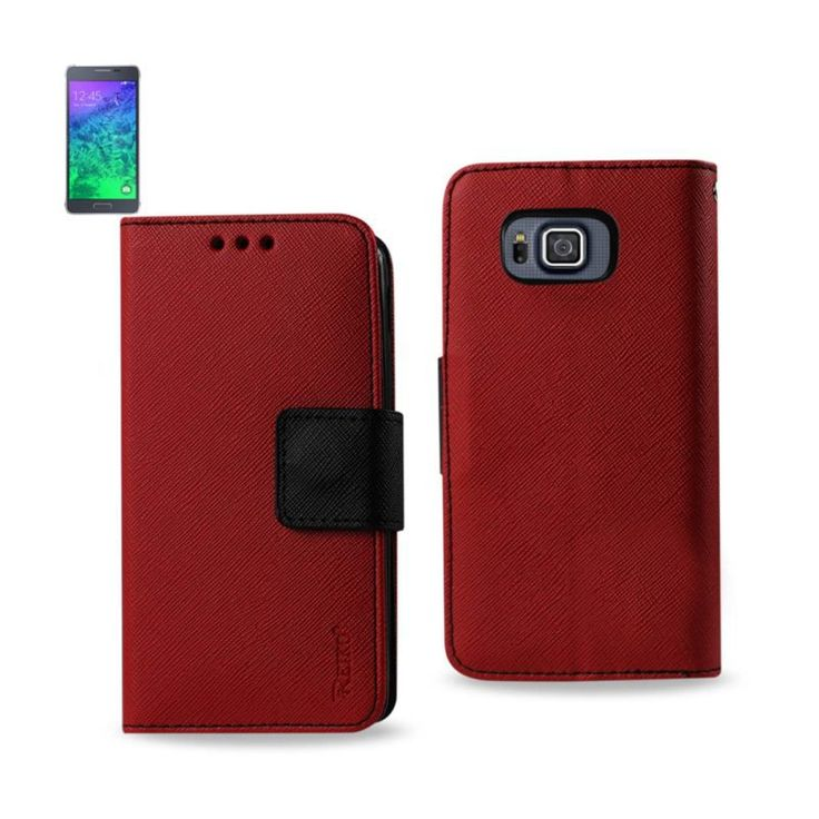 Reiko Samsung Galaxy Alpha 3-In-1 Wallet Case In Red //Price: $18.99 & FREE Shipping //     #mobileaccessories #phonecases