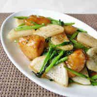 鶏むね肉とかぶの中華炒め