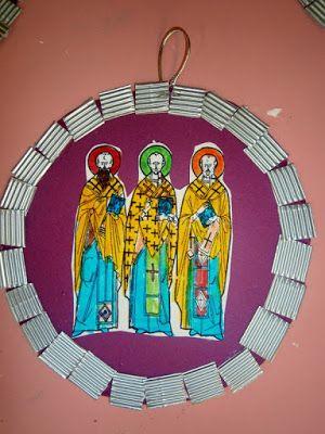 Προσχολική Παρεούλα : ΤΡΕΙΣ ΙΕΡΑΡΧΕΣ (Πατέρες της εκκλησίας - Προστάτες της Παιδείας )