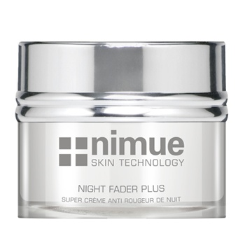 Hyperpigmentation Range Night Cream for severe pigmentation: Night Fader Plus. An innovative, lightweight night cream with nanospheres, offers a dual action treatment for reduction of advanced stages of hyperpigmentation, in addition to anti-ageing and hydration properties. Contains a synergistic blend of phytoceutical and biotechnological extracts, Vitamin C & E Ester. 50ml. Nimue Skin Technology.