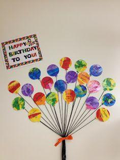 Teacher Birthday Card from students