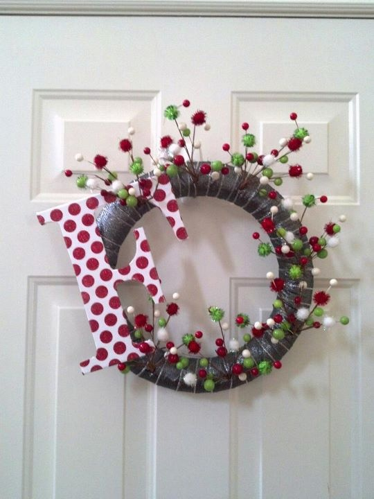 Dyi Christmas Wreath I Would Cover Up The Foam Wreath
