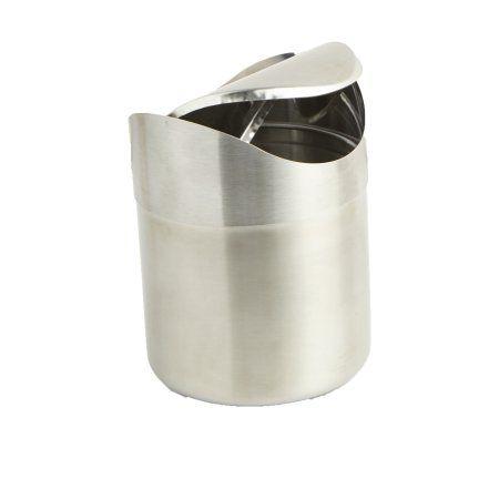 Mind Reader Stainless Steel Desktop Trash Collector, Silver