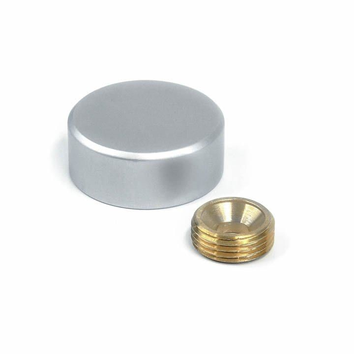 1 Dia Sign Screw Cap Satin Anodized Aluminum Decorative Cover Anodized Screw Caps