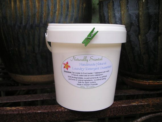 Laundry Detergent  Natural handmade unscented by NaturallyScented, $12.00 visit www.etsy.com/au/shop/NaturallyScented