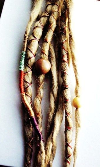 Custom Dreads Hair Wraps & Beads Bohemian Hippie Dreadlocks Blonde Tribal Falls Synthetic Boho Colored Extensions Hair Accessories - Red: Different Colors By yellowdolphin - LoveItSoMuch