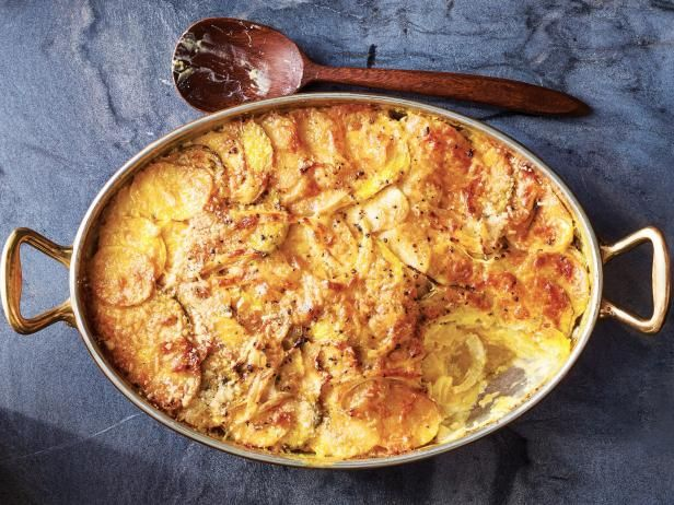 Get Root Vegetable Gratin Recipe from Food Network. Add sautéed onions, garlic, and butter and adjust seasoning.