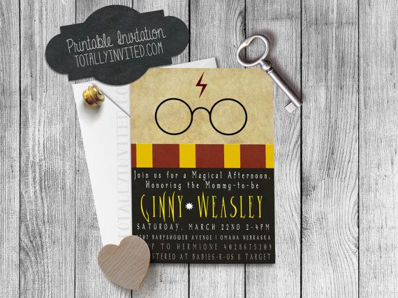 HARRY POTTER Inspired Bridal Shower / bachelorette / baby shower or party - Printable- diy - HP - Gryffindor - geek party by TotallyInvited on Etsy https://www.etsy.com/listing/187274972/harry-potter-inspired-bridal-shower