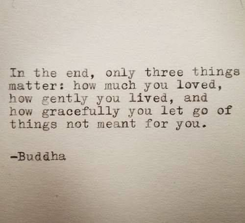How gentle and graceful did you live and let go? #love #buddha