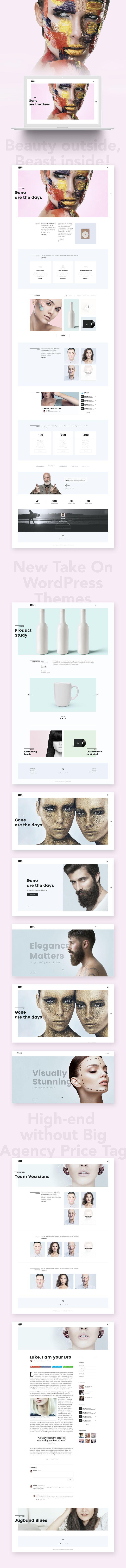 Adios | Portfolio WordPress Theme for Creatives on Behance