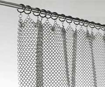 Amazing Chainmail Curtain Stainless Steel Fireplace