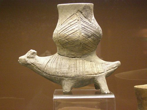 Zoomorphic vessel, New Stone Age, Linear Pottery culture, Želiezovce group